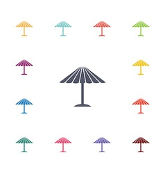 Parasol mask flat icons set vector
