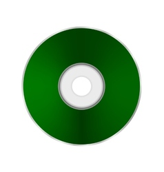 Green compact disc vector
