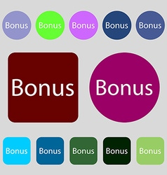 Bonus sign icon special offer label 12 colored vector