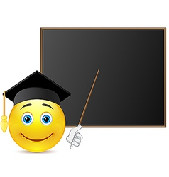 Smile student around blackboard vector