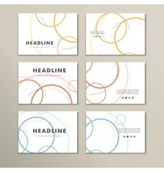 abstract circle set vector image