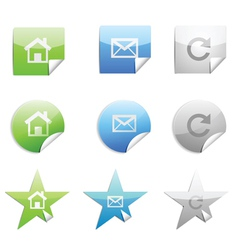 web 20 stickers set vector image
