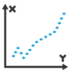 Dotted function plot toolbar icon vector