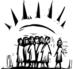 Group with Rays vector image