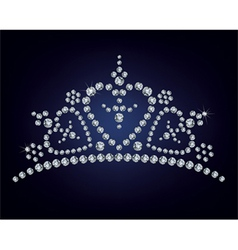 Diamond tiara vector image