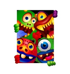 Funny monster cartoon vector