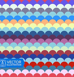 Abstract Colorful Wave Seamless Pattern vector image