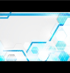 Abstract technology blue and white background vector image vector image
