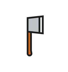 axe icon on white background vector image vector image