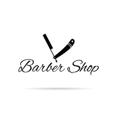 barber shop icon in black vector image