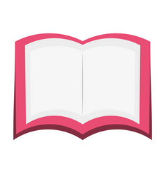Book open isolated vector