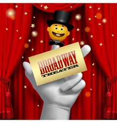 Broadway poster vector image