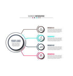 business data visualization vector image