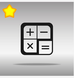 calculator icon flat design vector image
