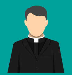 Catholic priest pastor servant of god in cassock vector