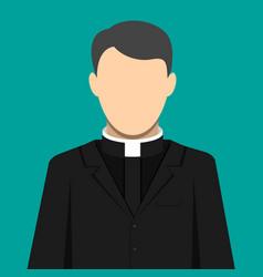 catholic priest pastor servant of god in cassock vector image