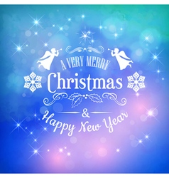Christmas Greeting Card with Typography vector image vector image