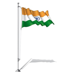Flag Pole India vector image vector image