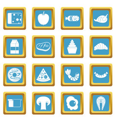 Food icons azure vector