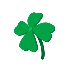 Four leaf clover cartoon icon vector image vector image