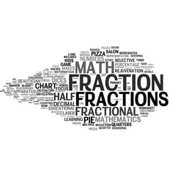 Fractional word cloud concept vector