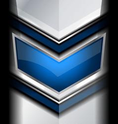 Geometric blue background metallic vector