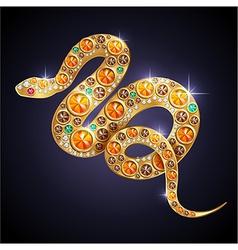 Golden snake vector