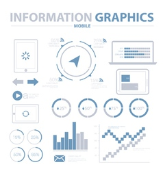 Information Graphics Mobile Set vector image