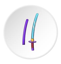 Katana icon cartoon style vector