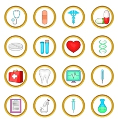 Medical set cartoon style vector image vector image
