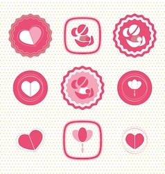 Mothers Day Badges and Labels icon vector image
