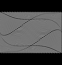 Op art wavy lines pattern vector