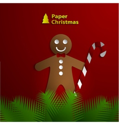 paper greeting card vector image vector image