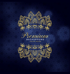 premium golden ornamental decoration background vector image