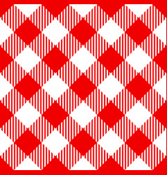 red check diagonal seamless pattern vector image