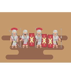 Roman legion soldier flat graphic vector image