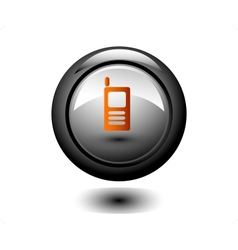 Round Phone Button vector image
