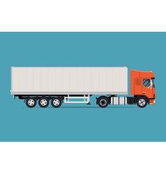 Trailer truck icon vector
