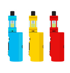 vape devices set vaping culture smoking vapor vector image vector image