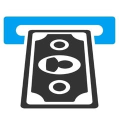Cashpoint Terminal Flat Icon vector image