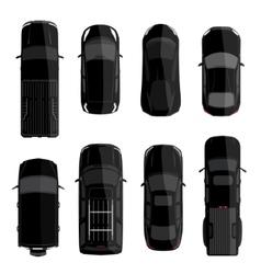 Black car set vector image