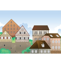 colony of houses vector image
