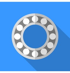 Colorful bearing icon in modern flat style with vector