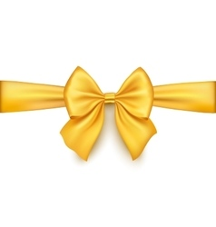 Realistic gold bow isolated on white background vector