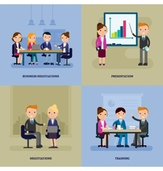 Business negotiation flat template vector