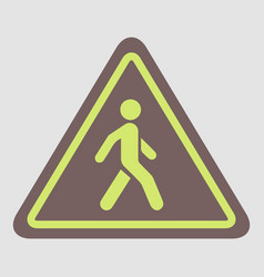 Crosswalk traffic signman walking road sign vector