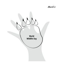 World wildlife day with animal vector