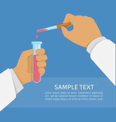 Laboratory research vector