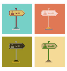 Assembly flat icons vector