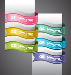 Colorful swirl banners vector